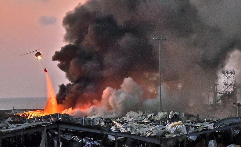 lebanon, beirut, explosion, fire, port
