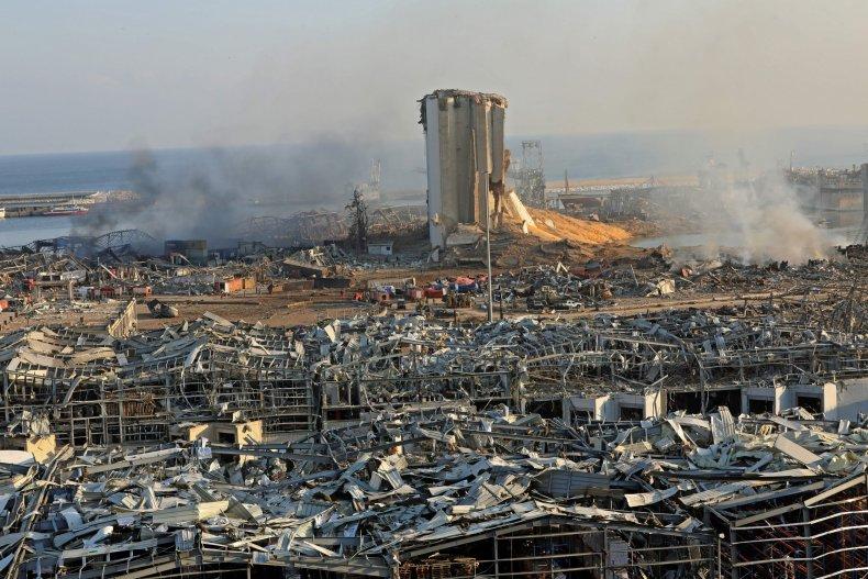 beirut explosion, lebanon, port, getty