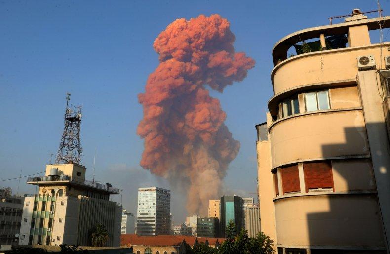beirut explosion, getty, lebanon, nitrogen dioxide