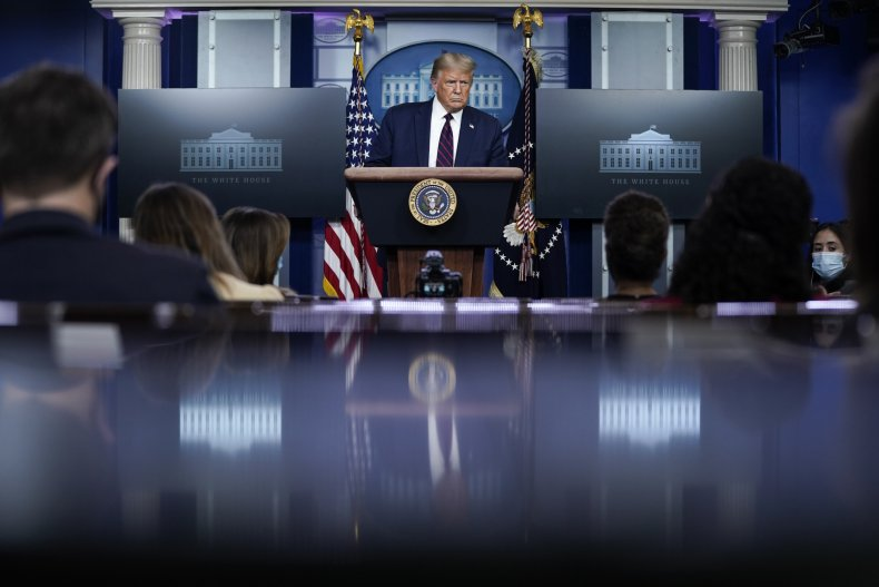 Donald trump press briefing