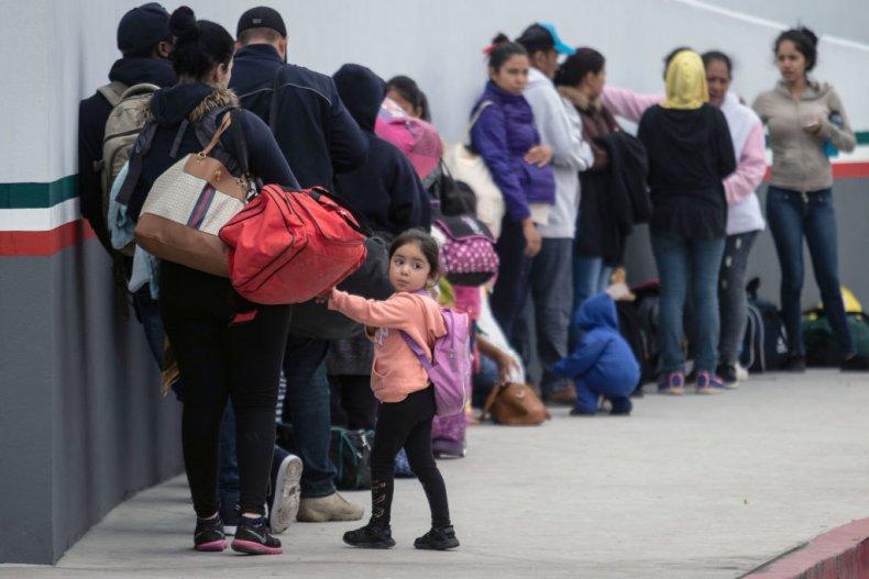 Migrants at Mexico border