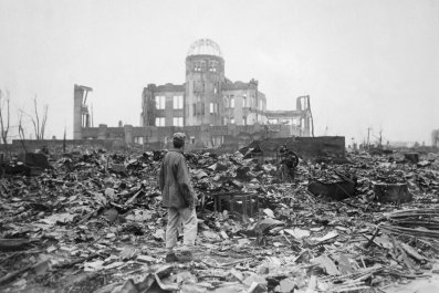 Hiroshima was nearly entirely destroyed in 1945