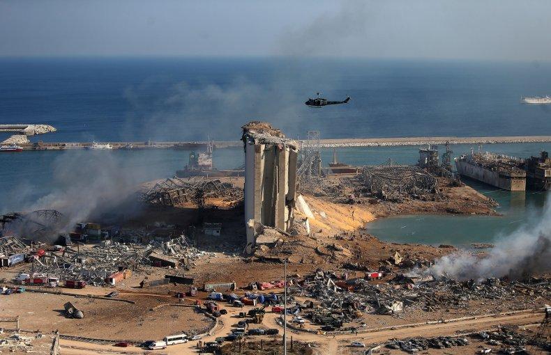 lebanon, beirut, explosion, port, blast
