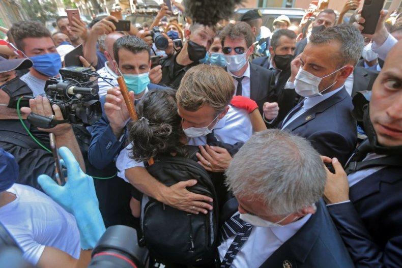 Macron in Beirut