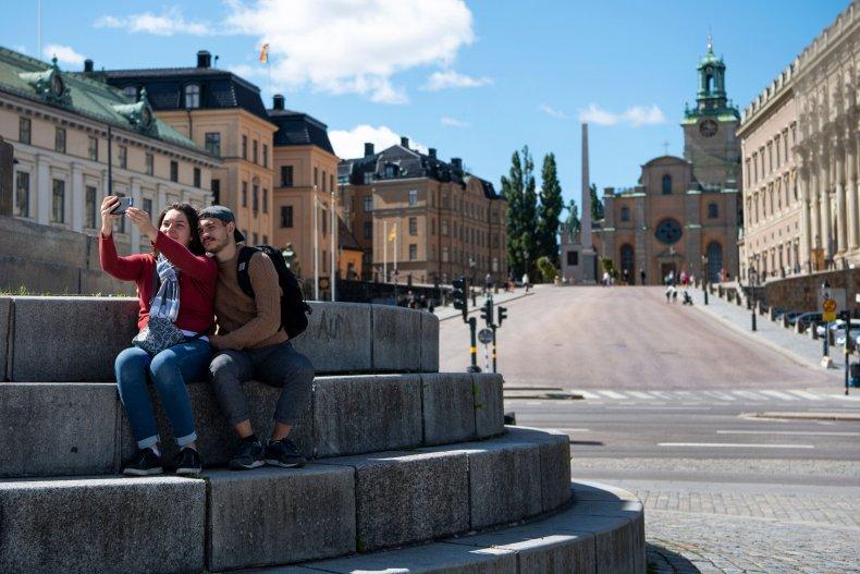 Royal palace in central Stockholm, Sweden