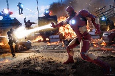 marvels avengers iron man beam