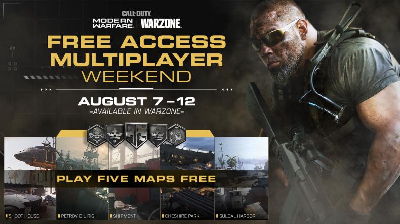 modern warfare free weekend august 7