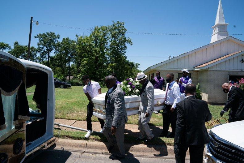 Dallas Texas funeral coronavirus July 2020
