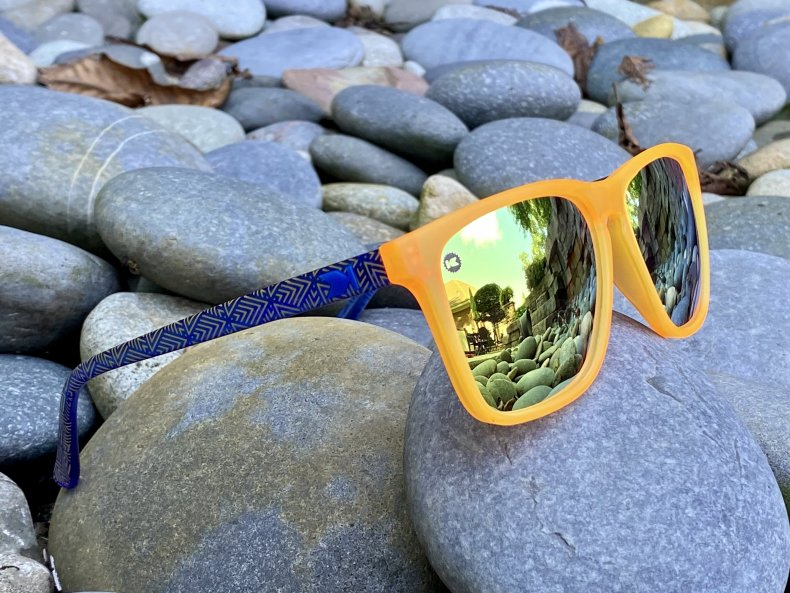 Knockaround Sunglasses Fast Lanes on rocks.