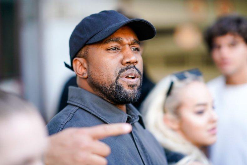 Kanye West at Paris Fashion Week, 2018