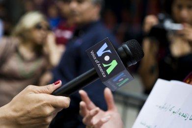 VOA microphone