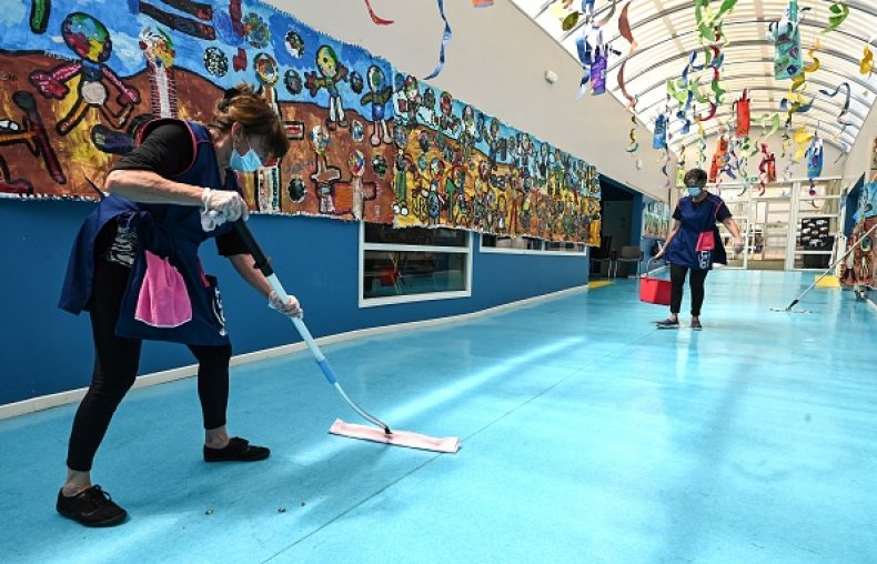 Disinfecting a School