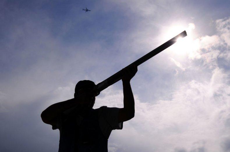Shotgun being fired