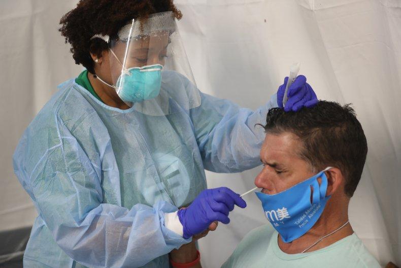 Miami Lakes, Florida, coronavirus testing, July 2020