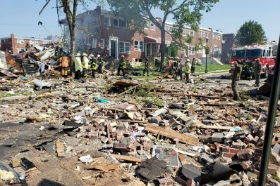 baltimore house explosion fire