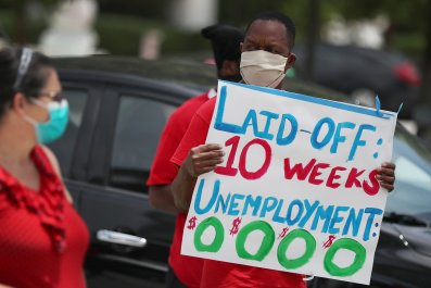 Unemployed Workers Protest in Florida