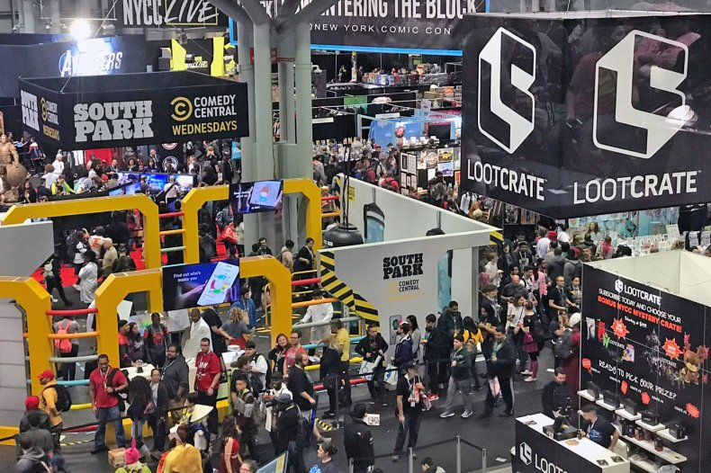 NYCC 2019 Crowded Javits Show Room Floor