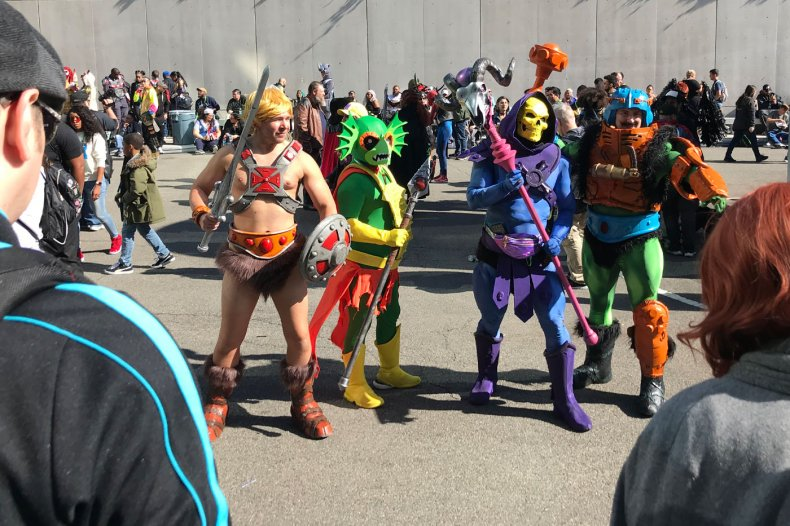 He-Man Cosplayers Stepping outside at NYCC 2019
