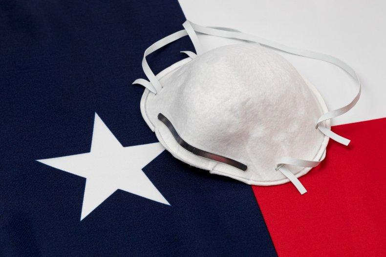 Mask and Texas Flag