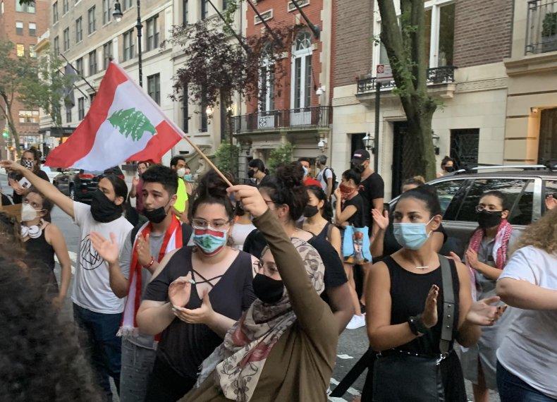 Lebanese protest in New York