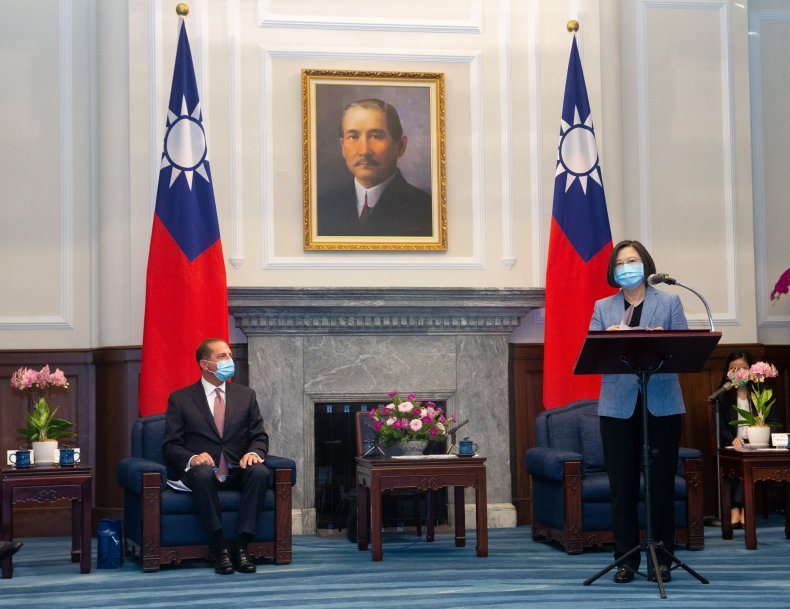 taiwan, alex azar, president Tsai Ing-wen