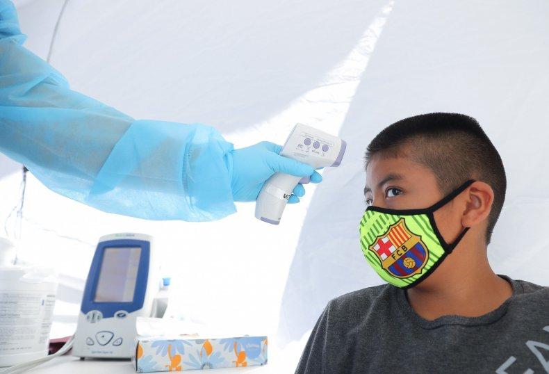 LA California child coronavirus testing July 2020