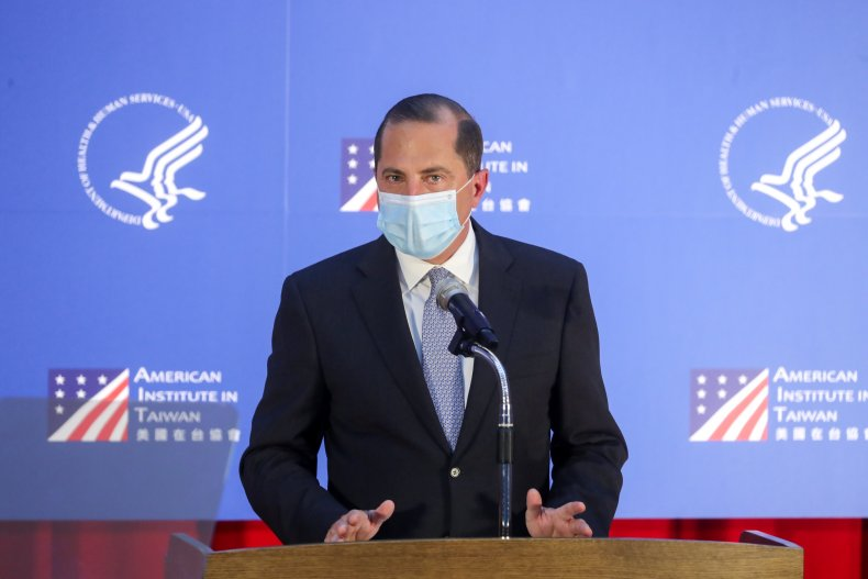 Alex Azar, Taiwan, China, coronavirus, US, speech
