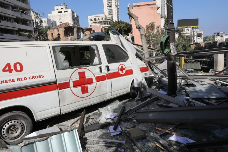 Beirut, Lebanon, Red Cross, ambulance, NGOs, aid