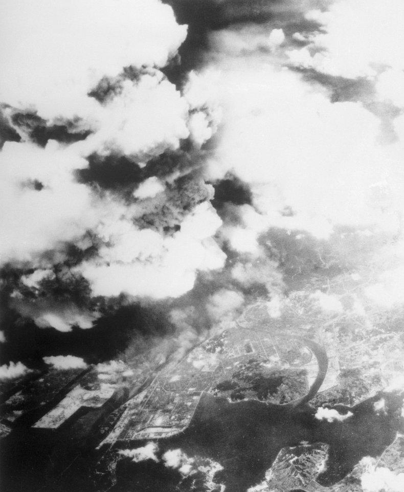 hiroshima, atomic, bomb, mushroom, cloud