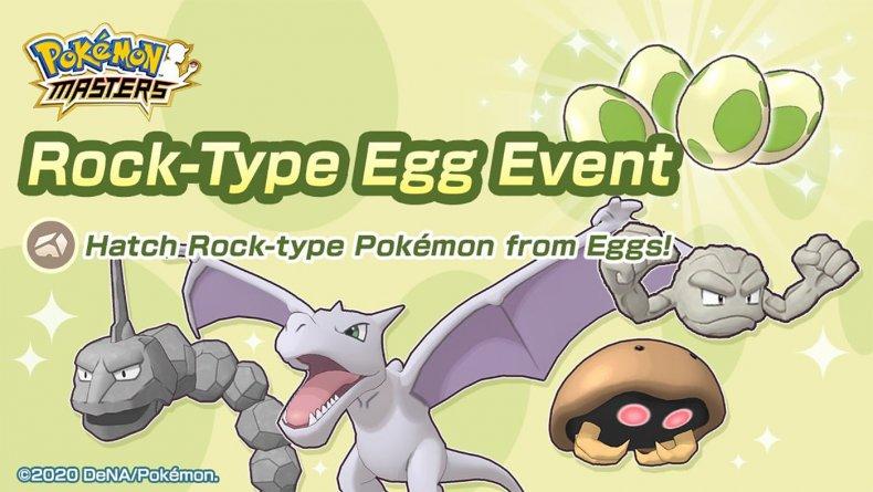 pokemon masters rock type egg event aerodactyl