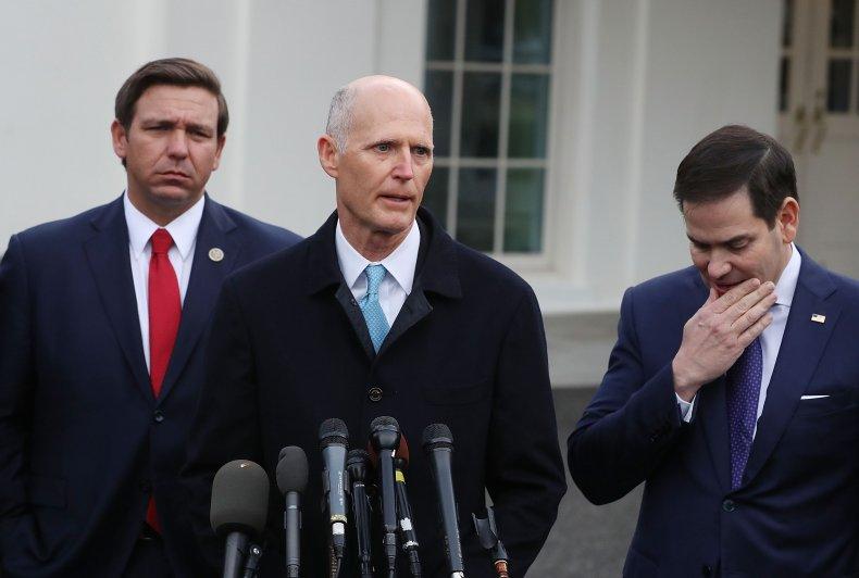 Rick Scott, Marco Rubio, Ron DeSantis