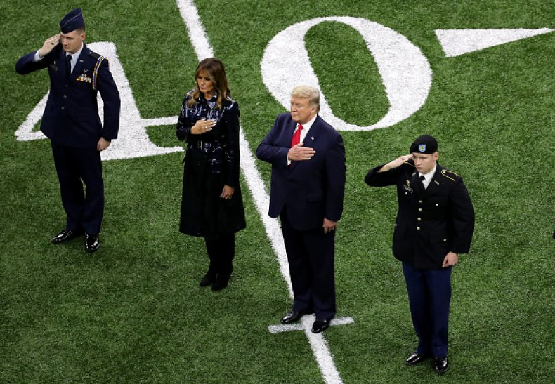 President Trump College Football
