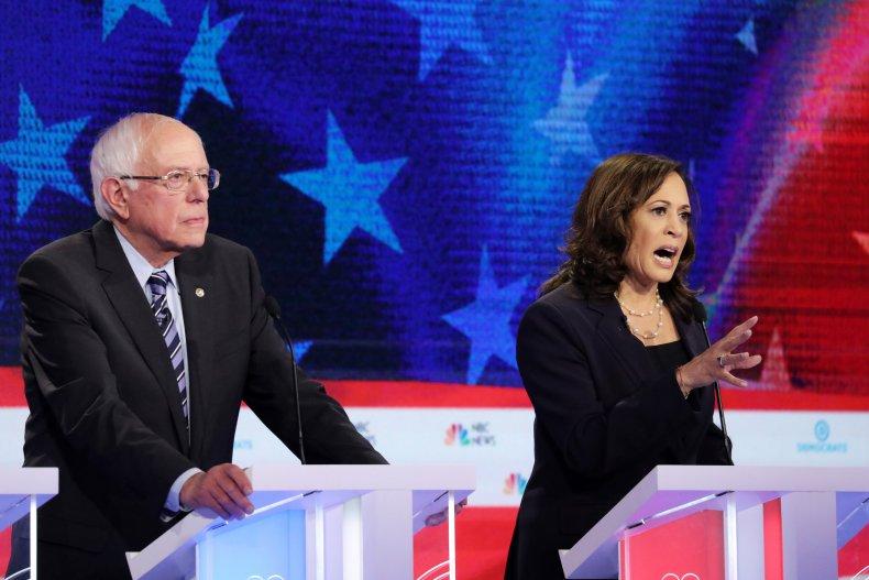 Kamala Harris Bernie Sanders liberal Senate record