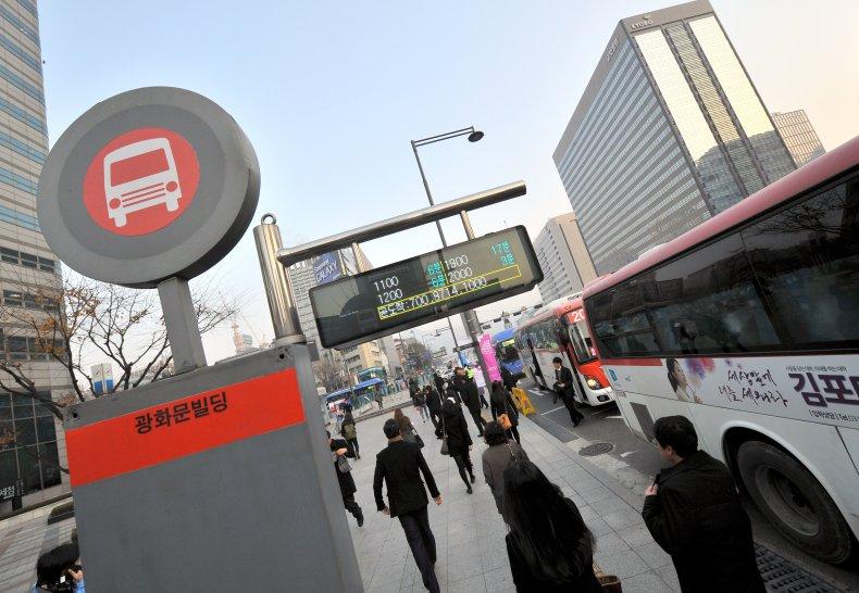 Bus Stop Seoul