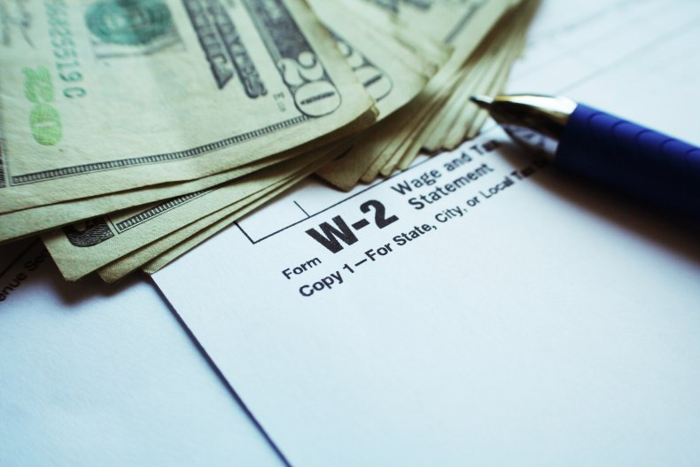 W-2 Form and Cash