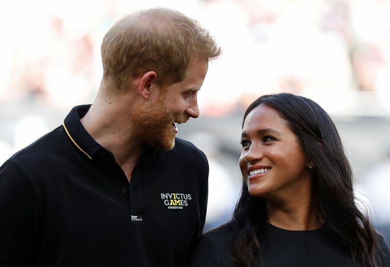 Prince Harry and Meghan Markle at Baseball