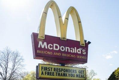 McDonald's, Hillsborough, New Jersey, April 2020