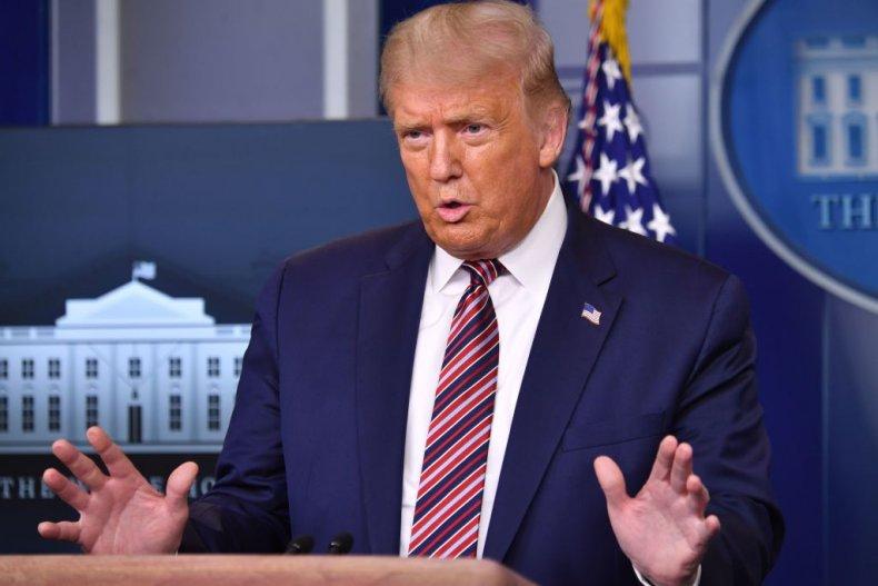 Donald Trump At Press Conference