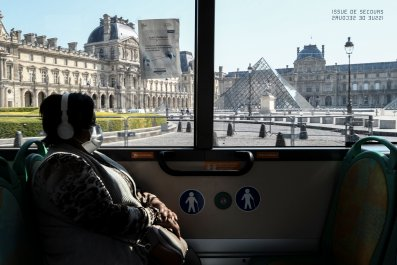 Paris, France, bus, April 2020