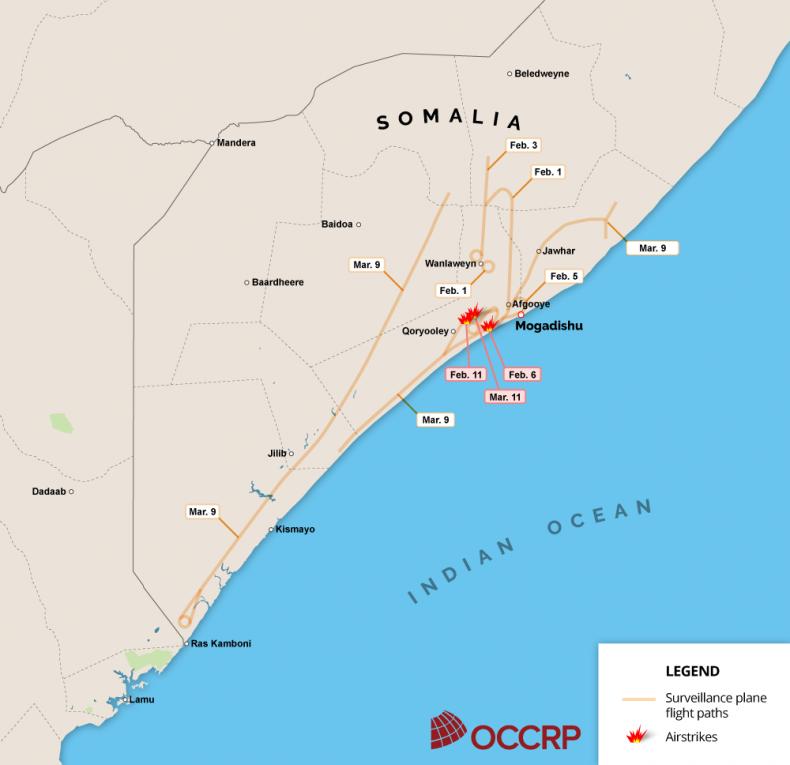 Somalia surveillance flights