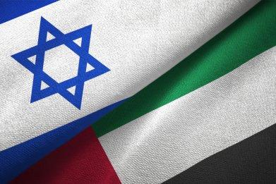 israel, uae, flags