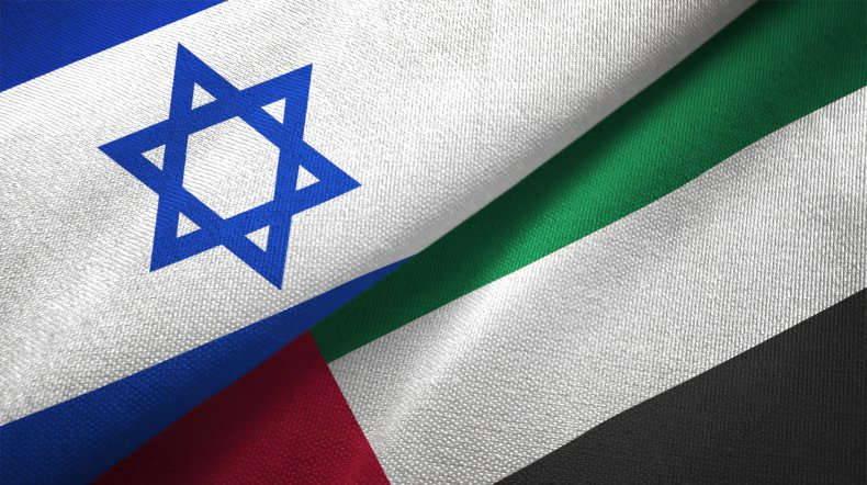 israel, uae, flags