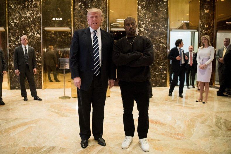 U.S. President Donald Trump and Kanye West