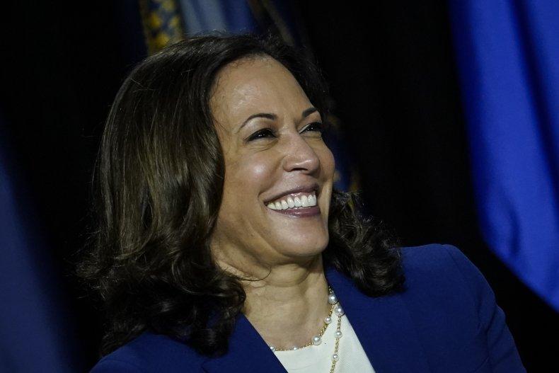 Presumptive Democratic vice presidential nominee Kamala Harris