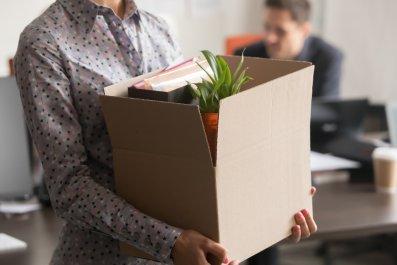 Employee Leaving Office Job