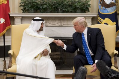Mohammed Bin Zayed and Donald Trump