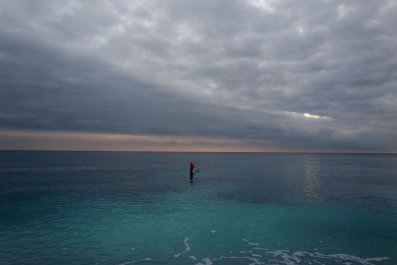 Buoy floating in the sea