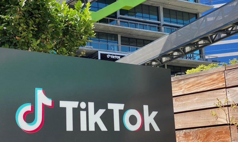 TikTok Logo on Building