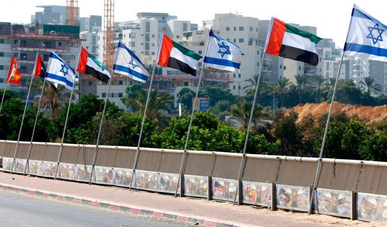 UAE and Israeli flags