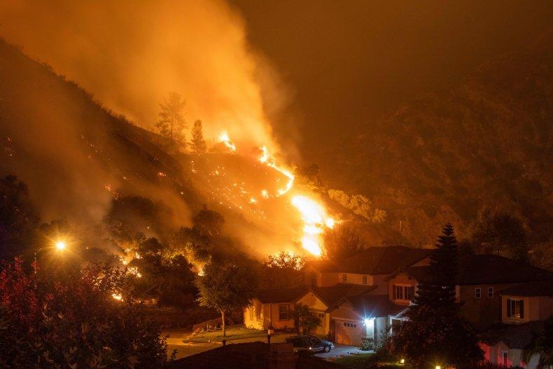 California Azusa Fire